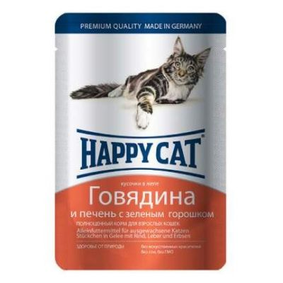 HAPPY CAT Д/КОШЕК КОНС ГОВЯДИНА В ЖЕЛЕ 100Г